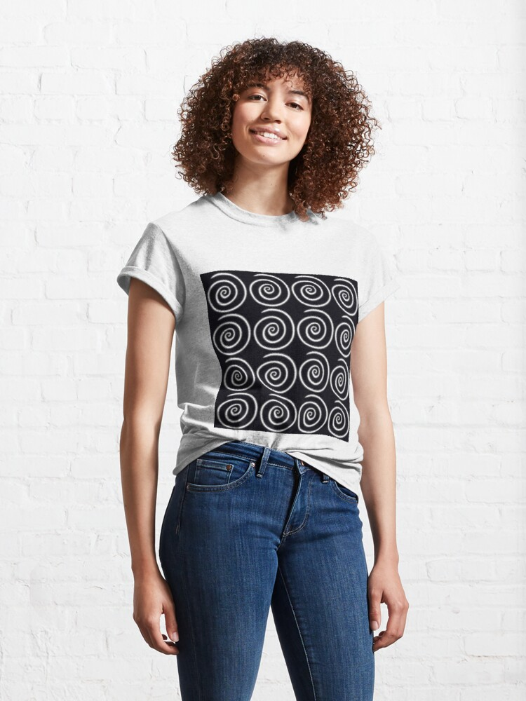 Alternate view of Black Swirls Classic T-Shirt