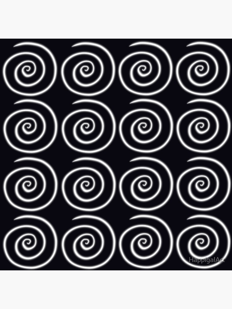Black Swirls by HappigalArt