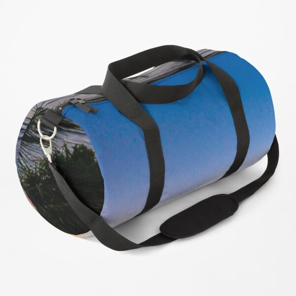 DI COLLECTION-WIND BLOWING PALM TREES SUNSET BEACH Duffle Bag