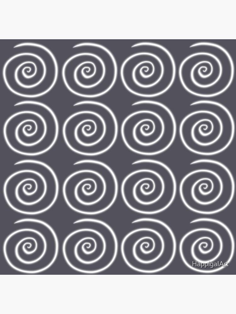 Grey Gray Swirls by HappigalArt
