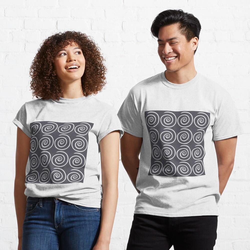 Grey Gray Swirls Classic T-Shirt