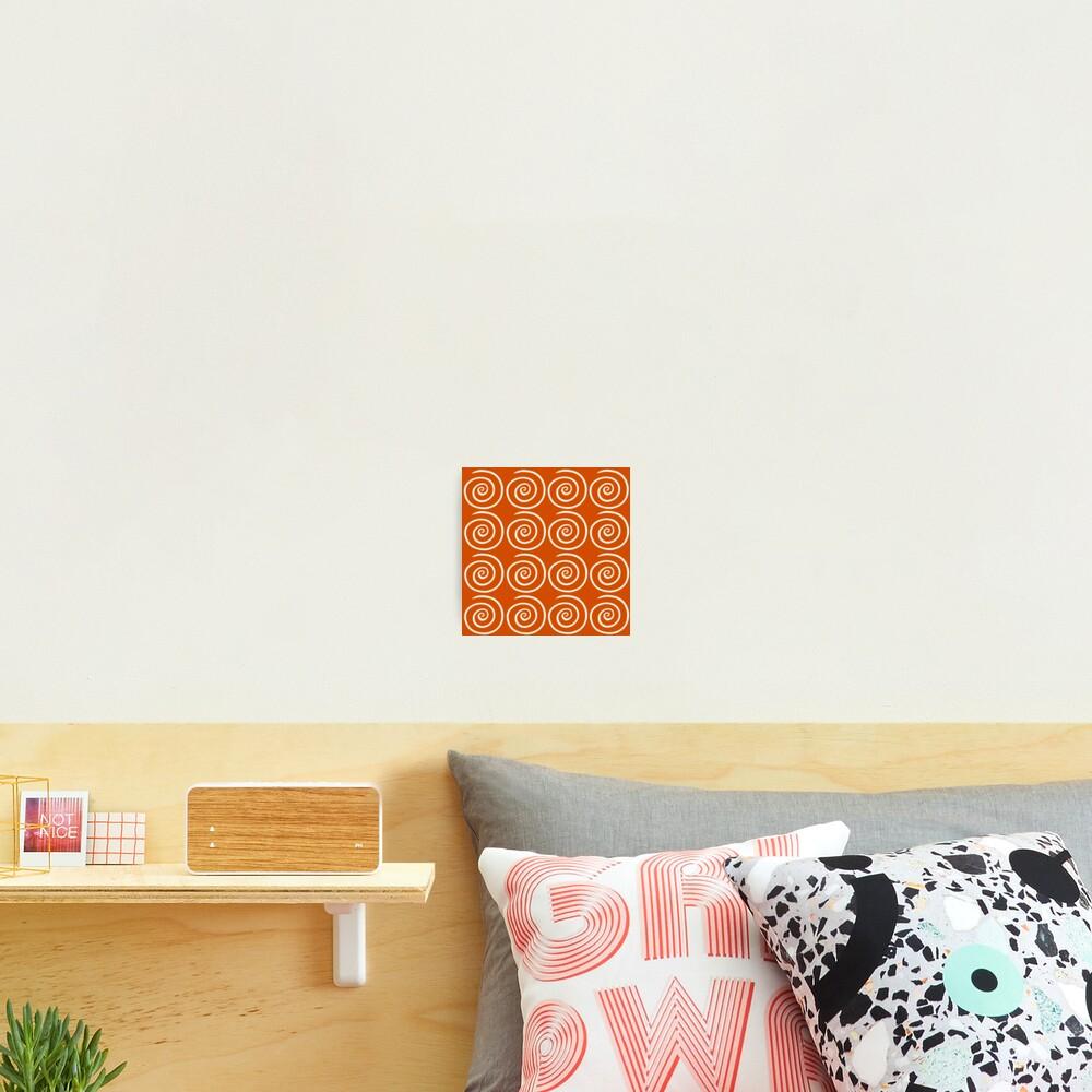 Orange Swirls Photographic Print