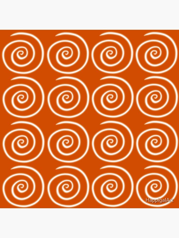 Orange Swirls by HappigalArt