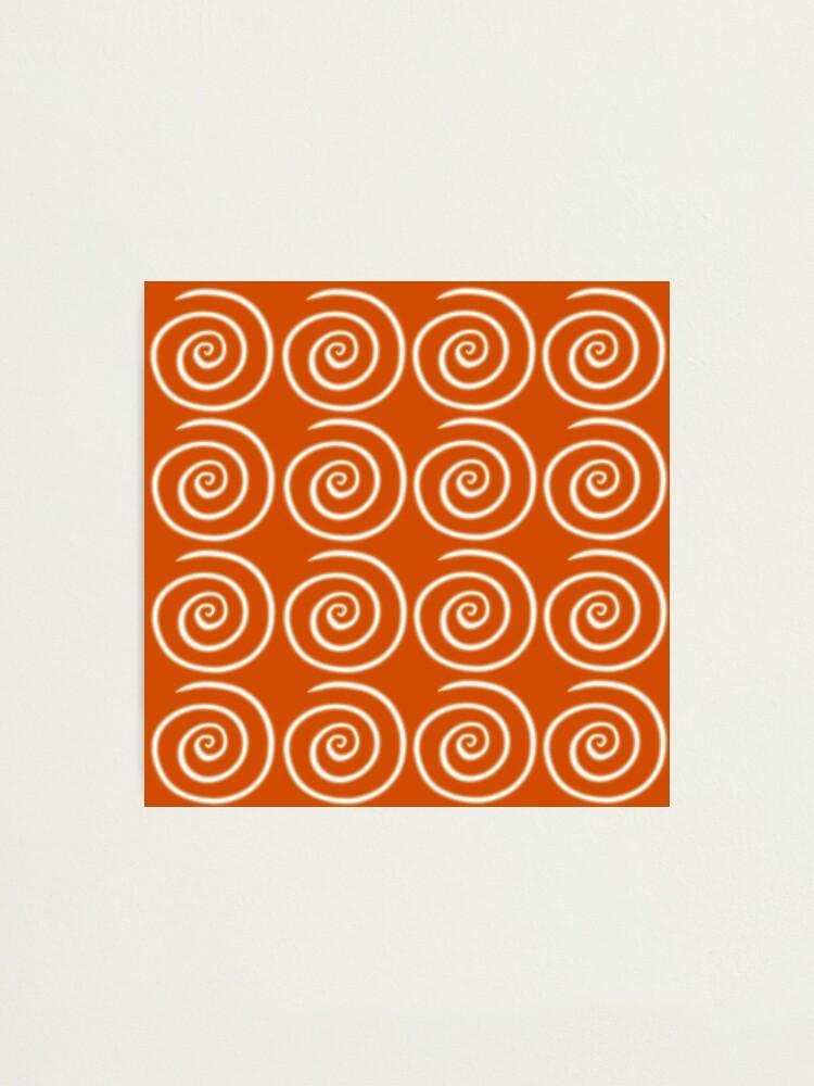 Alternate view of Orange Swirls Photographic Print