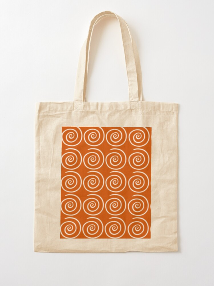 Alternate view of Orange Swirls Tote Bag