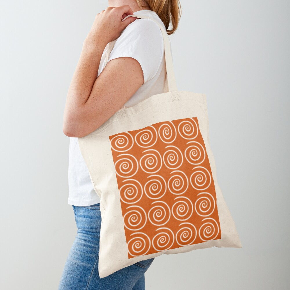Orange Swirls Tote Bag
