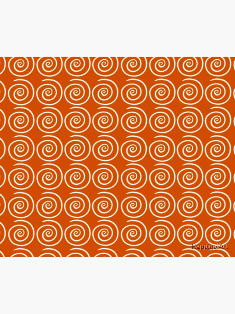 Orange Swirls by HappigalArt