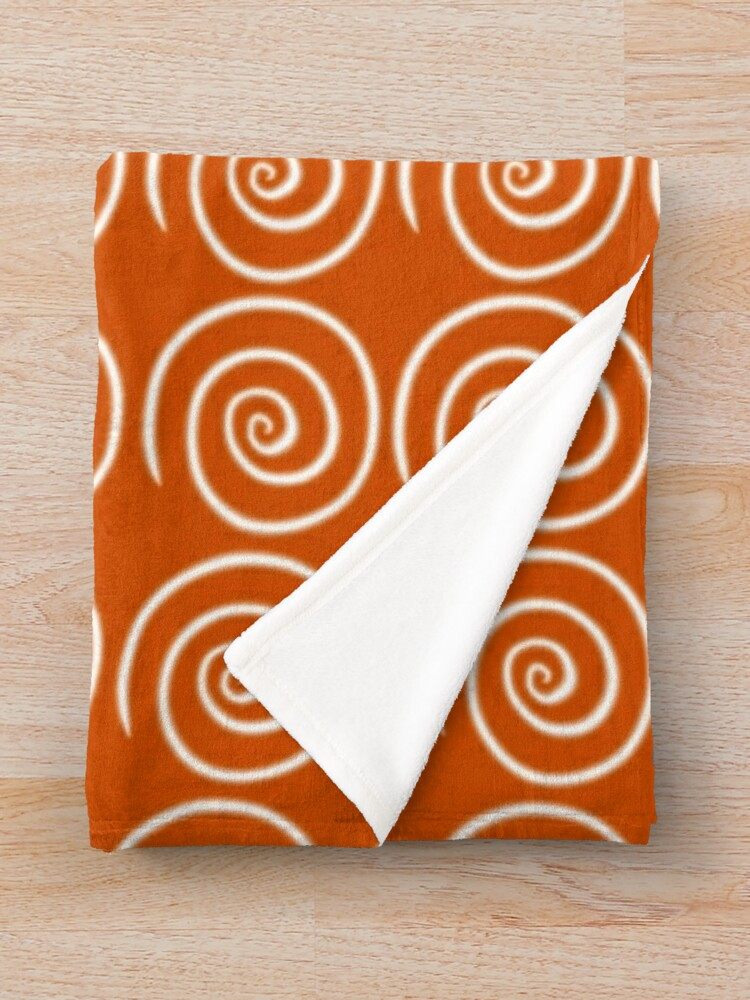 Alternate view of Orange Swirls Throw Blanket