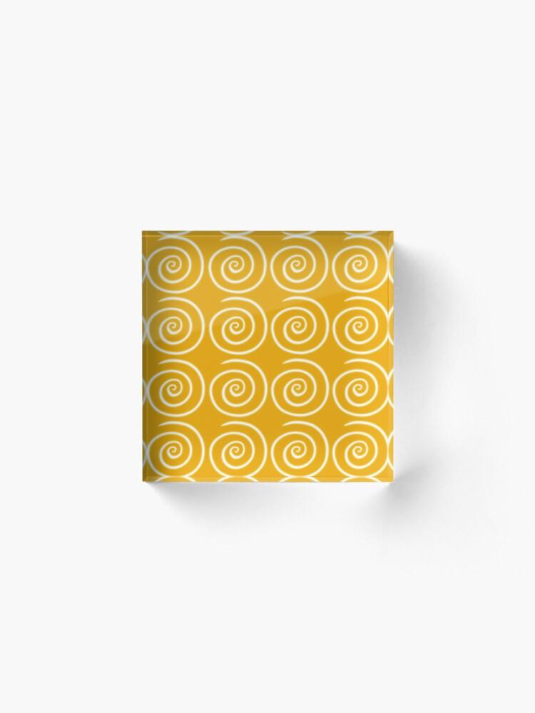 Alternate view of Yellow Swirls Acrylic Block