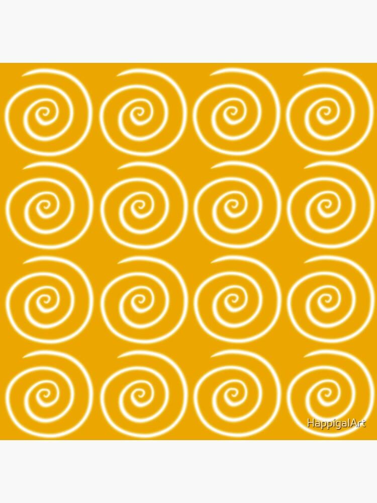Yellow Swirls by HappigalArt
