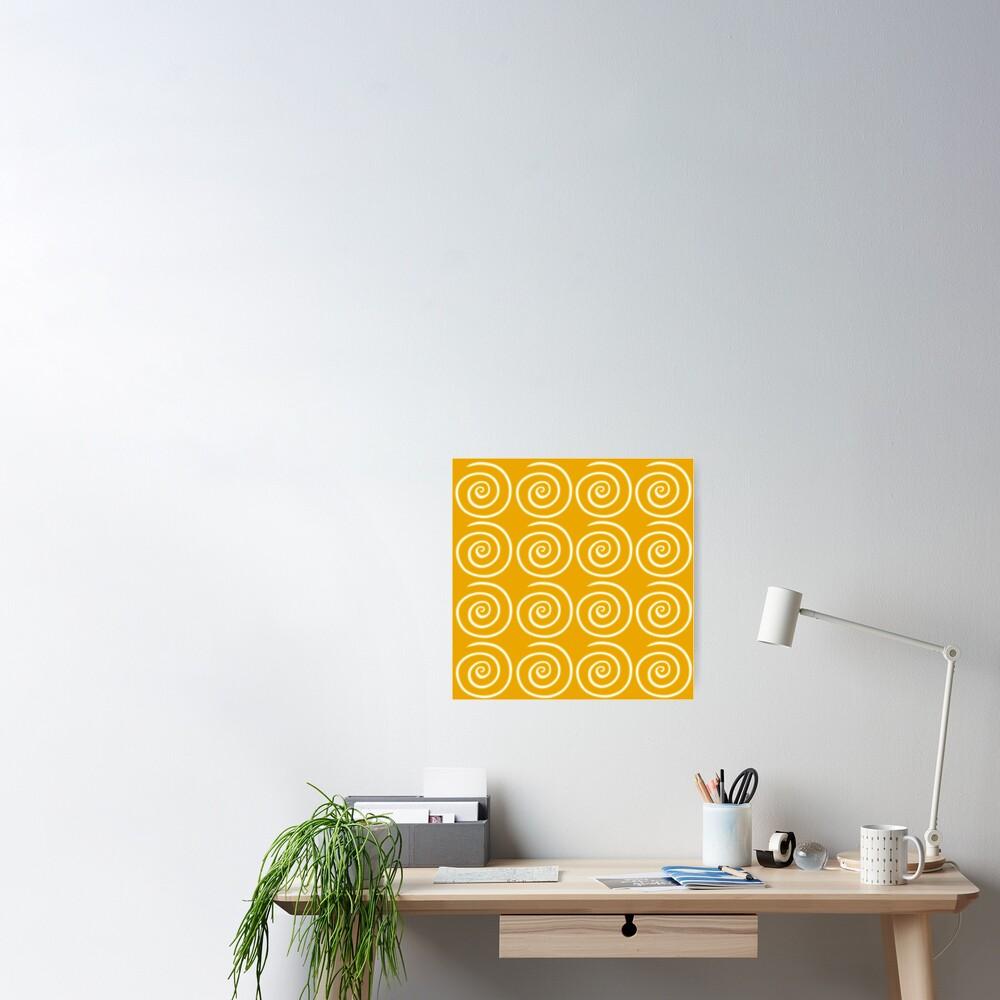 Yellow Swirls Poster