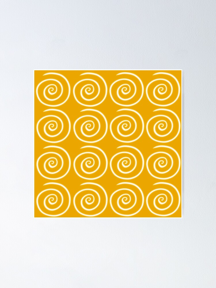 Alternate view of Yellow Swirls Poster