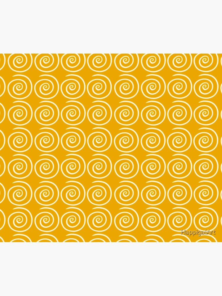 Yellow Swirls by HappigalArt