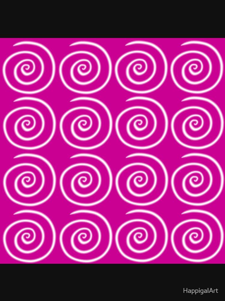 Pink Swirls by HappigalArt
