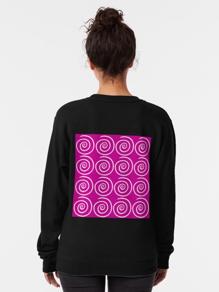 Alternate view of Pink Swirls Pullover Sweatshirt