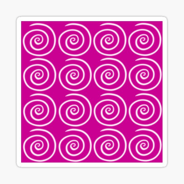 Pink Swirls Sticker