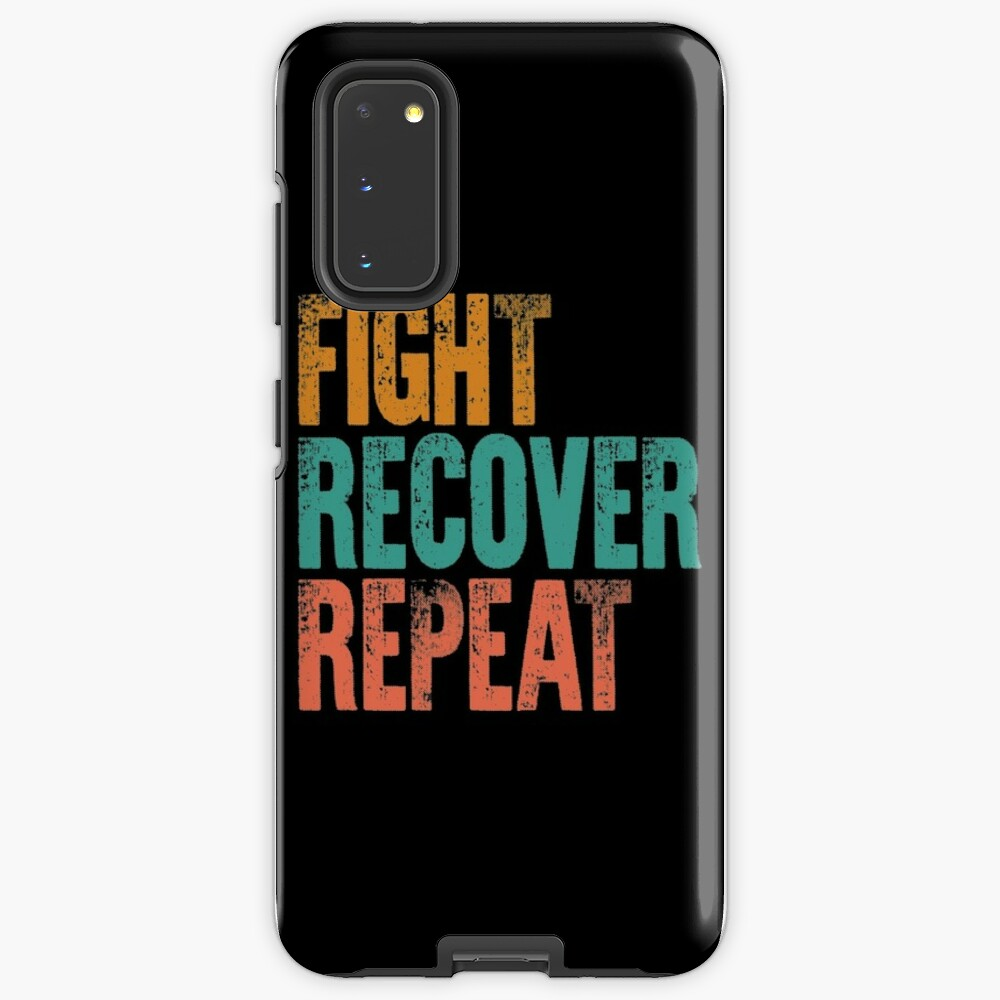 Eating Disorder Recovery Shirt Fight Recover Repeat Ed Warrior Purple Ribbon Awareness Vintage Gift Case & Skin for Samsung Galaxy