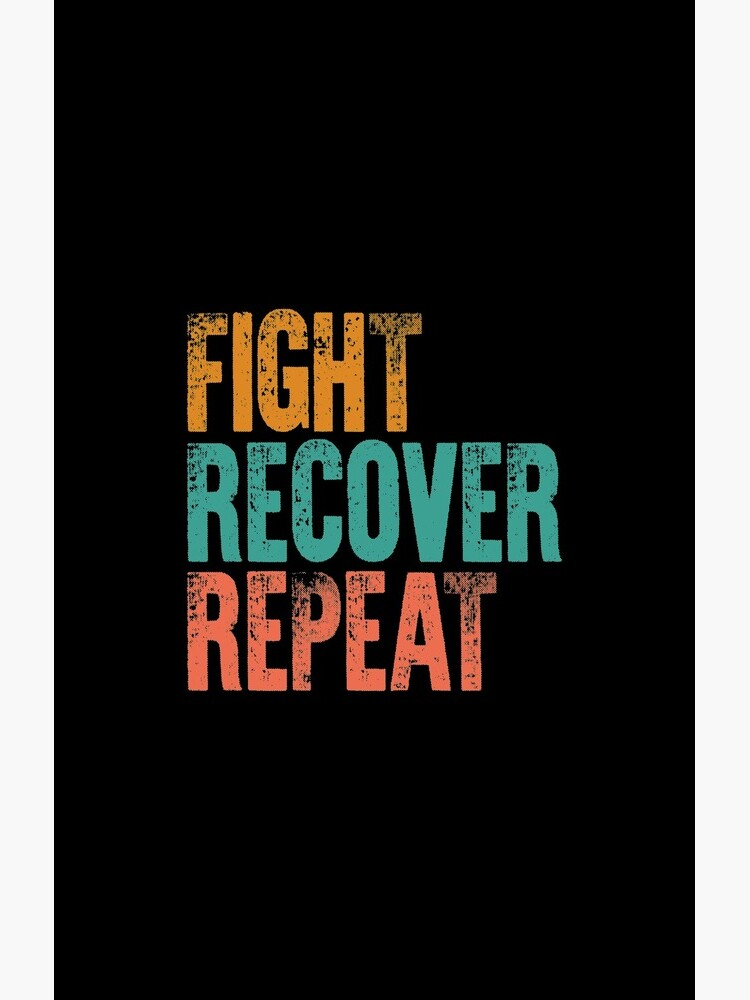 Eating Disorder Recovery Shirt Fight Recover Repeat Ed Warrior Purple Ribbon Awareness Vintage Gift by Sifoustore