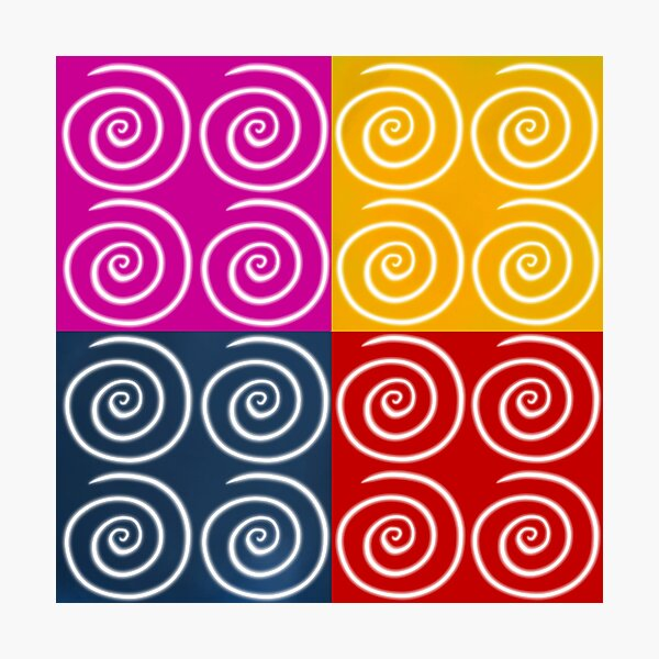 Four Squares of Swirls Pop Photographic Print