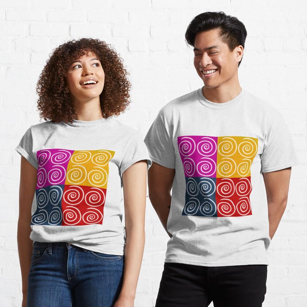 Four Squares of Swirls Pop Classic T-Shirt