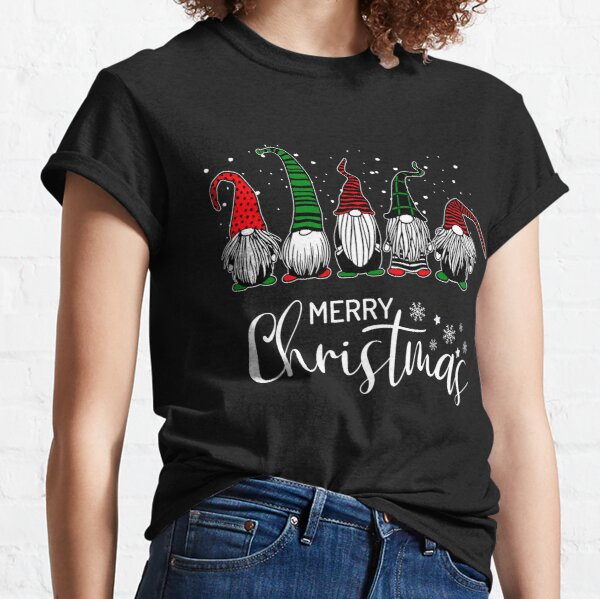 Cute Xmas Gnomes In Plaid Hats Merry Christmas Gift Fabulous Gnome Graphic  Classic T-Shirt