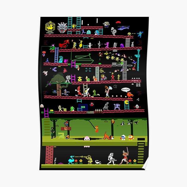 Juegos clásicos de los 80 Póster