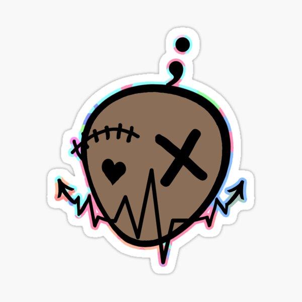 Mr. Happy Unhappy Sticker