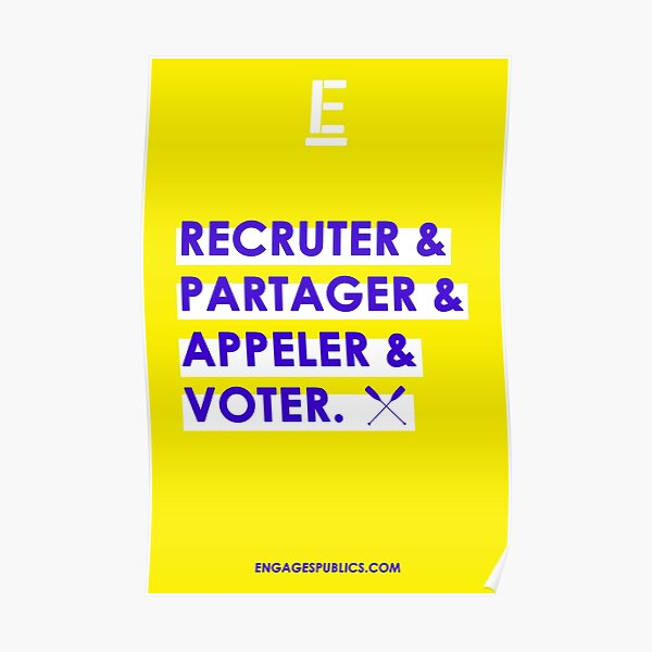 Post - Recruit & Share & Call & Vote Poster