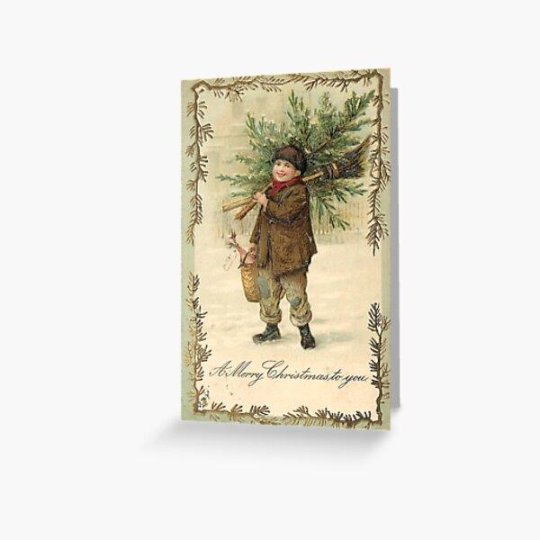 """""""A Merry Christmas To You"""" Vintage Christmas Postcard  (1903) Greeting Card"""