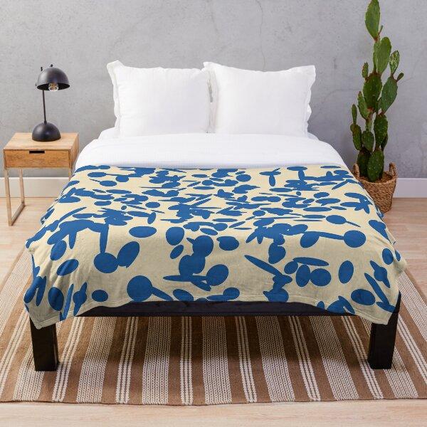 Koraljni (Blue/Almond) Throw Blanket