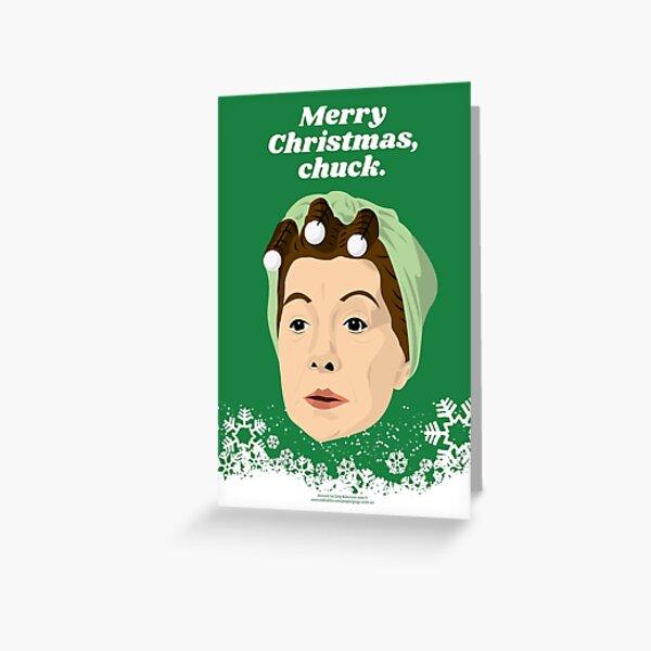 Merry Christmas, Chuck Christmas Card Greeting Card