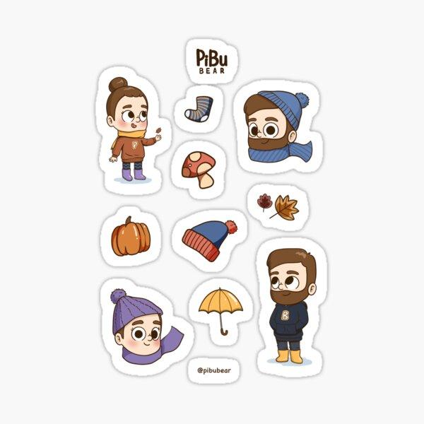 Autumn Stickers Pibubear Sticker