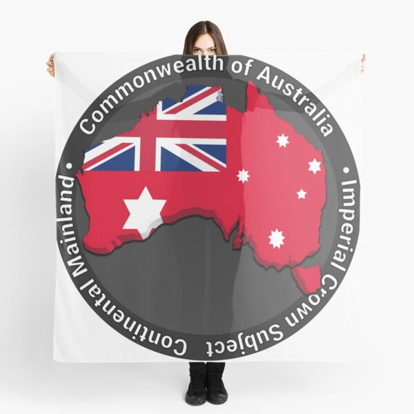 Commonwealth of Australia Red Ensign Imperial Crown Subject Scarf