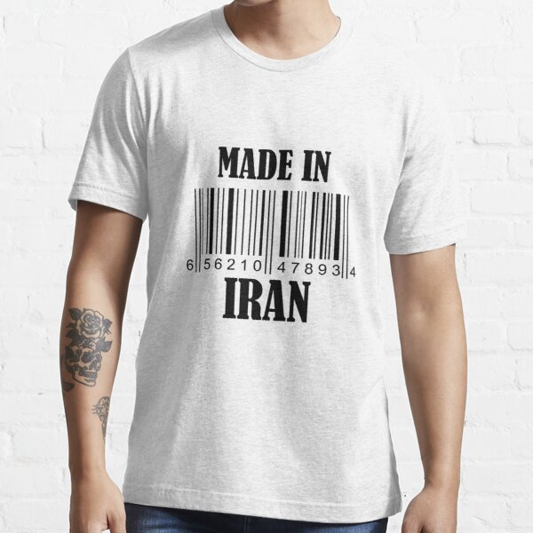 Made in Iran Barcode in Black Essential T-Shirt