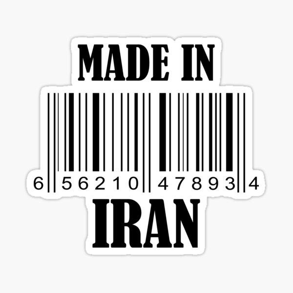 Made in Iran Barcode in Black Sticker