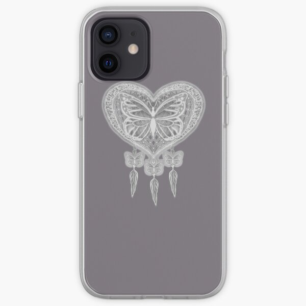 Taupe butterfly dreamcatcher design  iPhone Soft Case