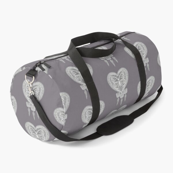 Taupe butterfly dreamcatcher design  Duffle Bag
