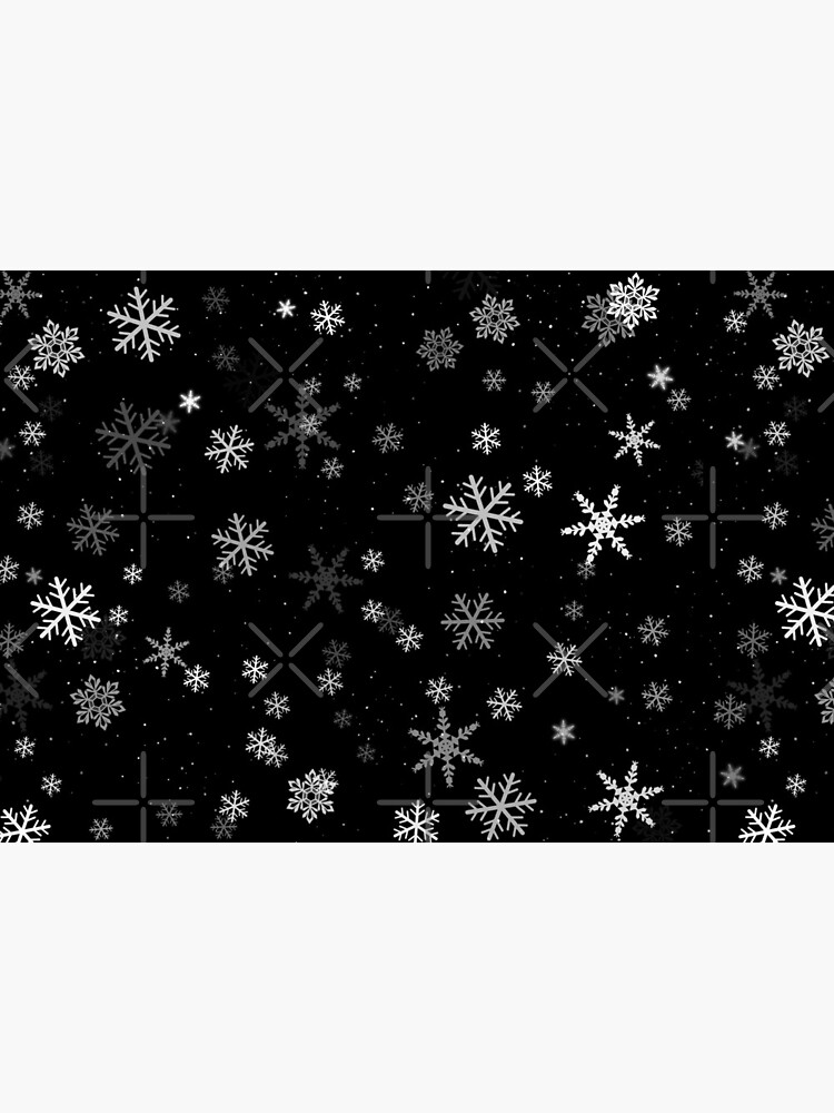 Black and White Snowflakes Winter Pattern by OneLook