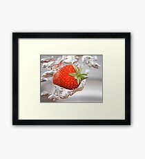 Strawberry drops Framed Print