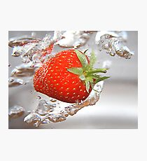 Strawberry drops Photographic Print