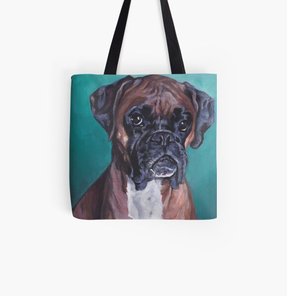Boxer Peinture Fine Art Tote bag doublé