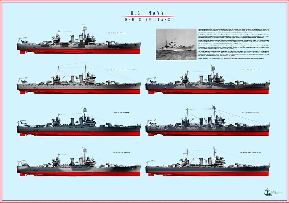 poster USN Brooklyn class cruisers