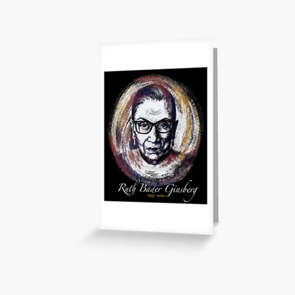 Ruth Bader Ginsberg RBG  Greeting Card