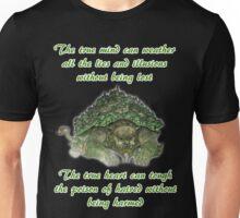 The True Mind..... - Lion Turtle Quote Unisex T-Shirt