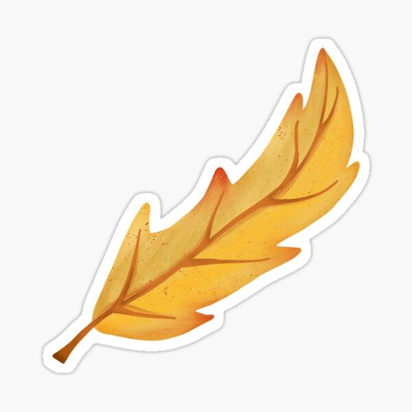 Yellow Autumn Leaf Sticker