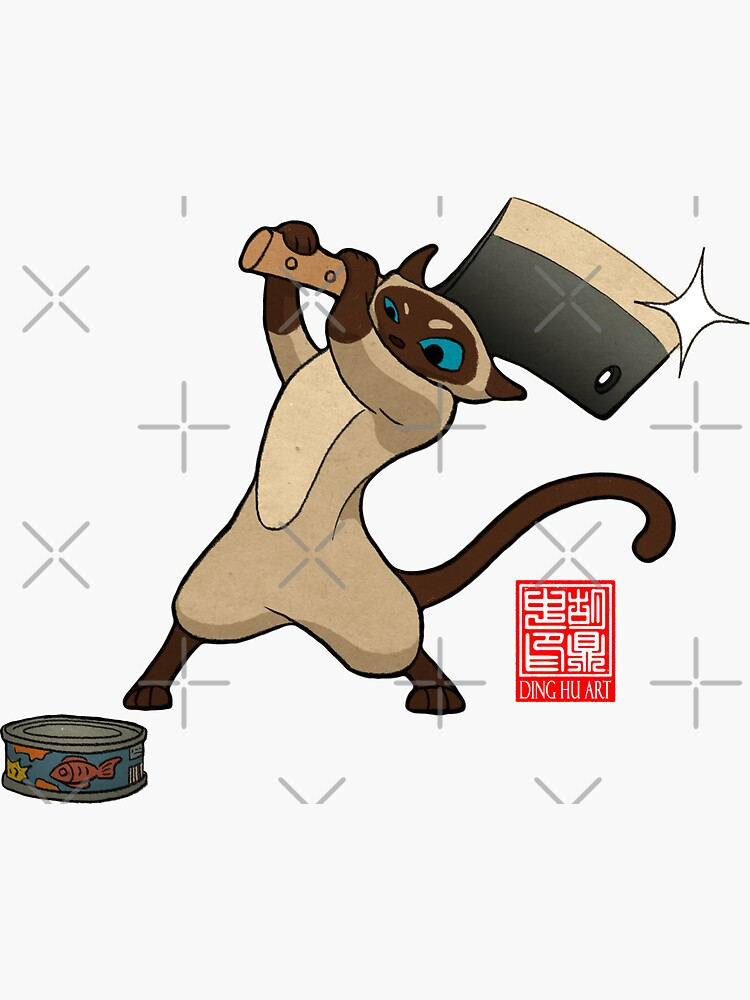 Siamese Cat Can Chop by DingHuArt