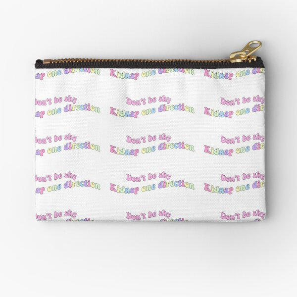 don't be shy kidnap one direction Zipper Pouch