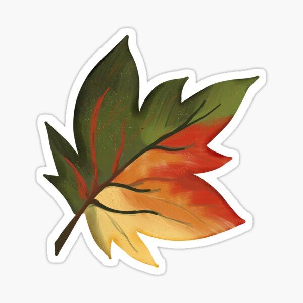 Colourful Autumn Leaf Sticker