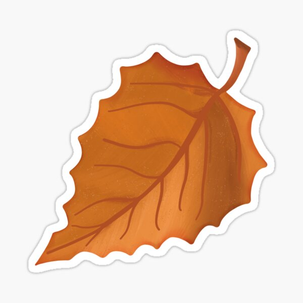 Autumn Beech Leaf Sticker