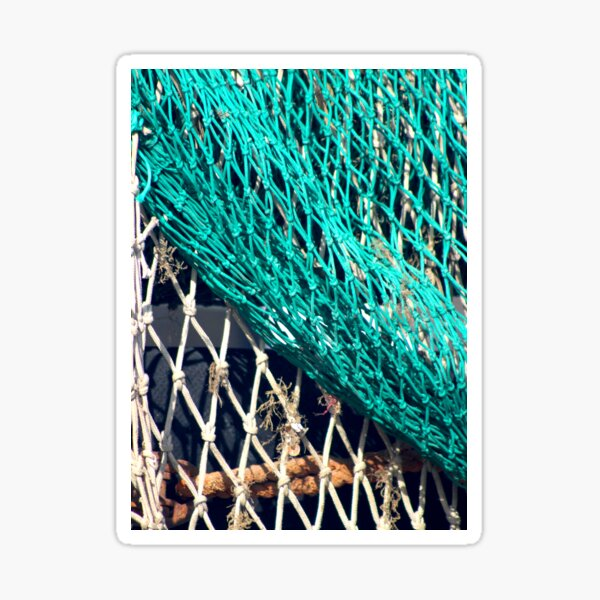 Fishing nets in Whitstable Sticker